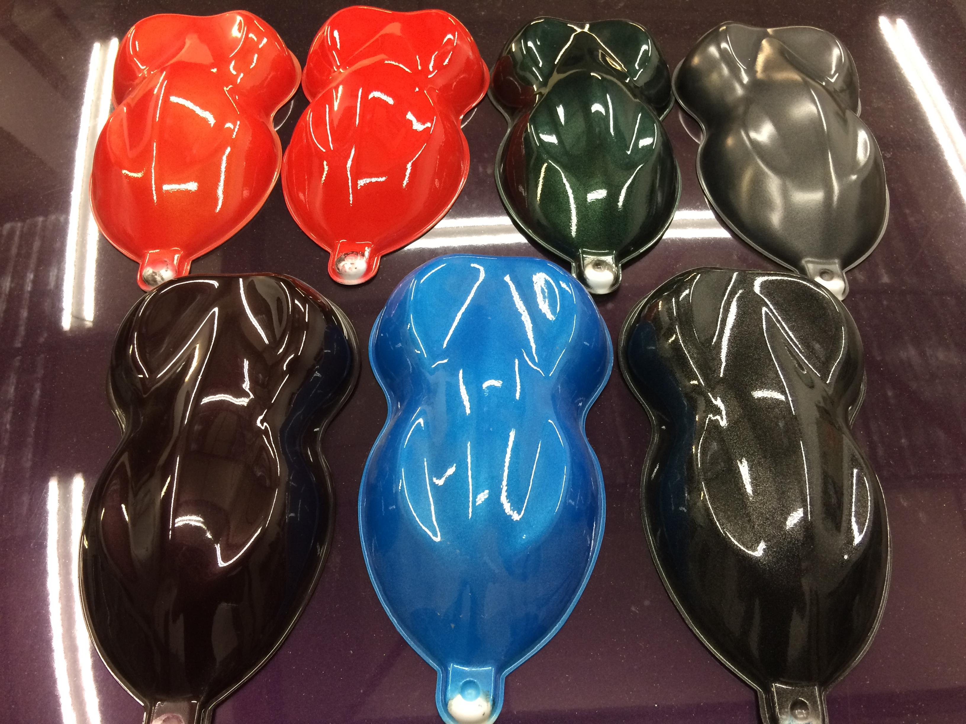 Colour samples for resprays